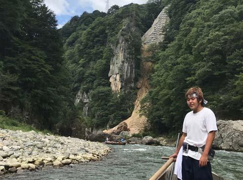 鬼怒川ライン下り:楯岩