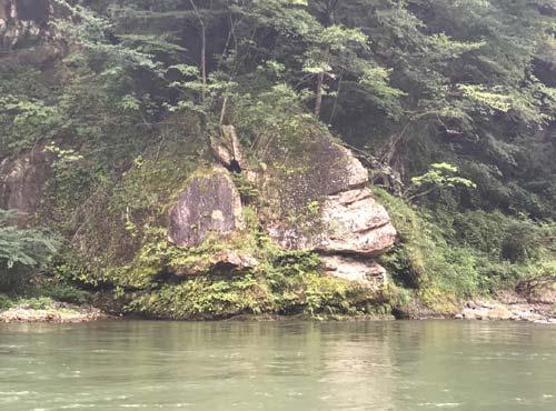 鬼怒川ライン下り:ゴリラ岩