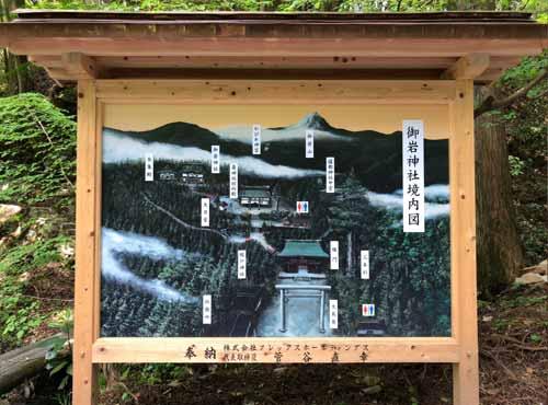 御岩神社:境内図