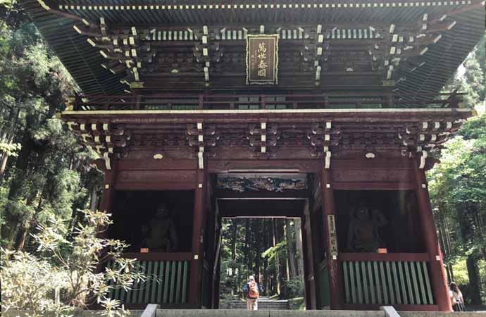 御岩神社:楼門(大仁王門)