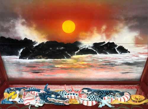 御岩神社:朝日