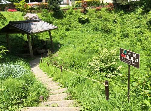鷲子山上神社:亀井戸への階段