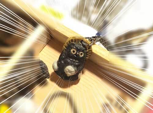鷲子山上神社:ふくろうがいっぱい展(たぬき)