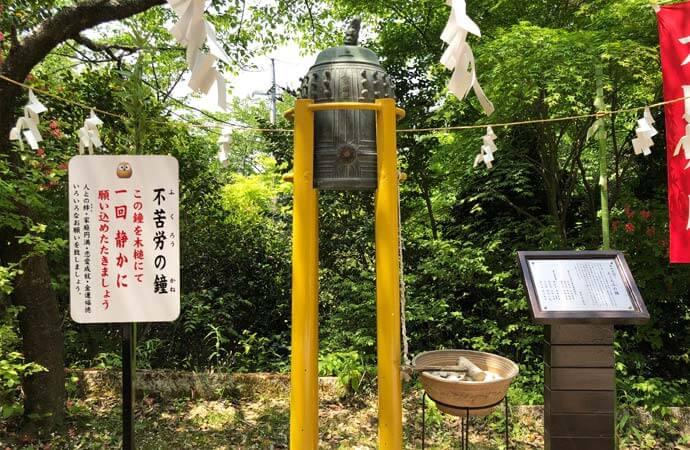 鷲子山上神社:フクロウの鐘